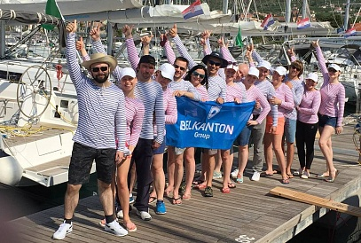 """Belkanton Group"" team in the international week of sailing regatta"